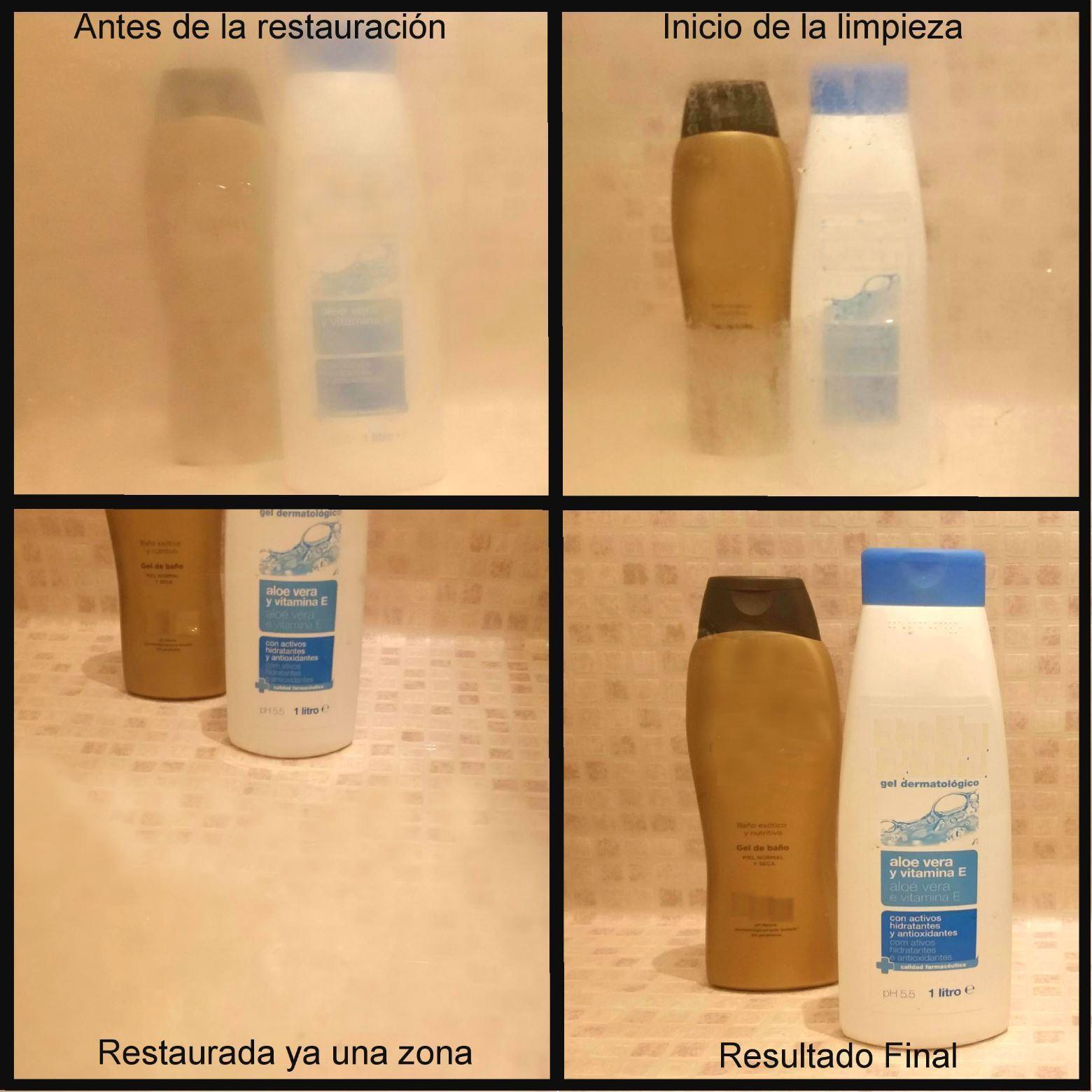 Productos Para Limpiar Mamparas De Ducha.Kit De Productos Para Quitar La Cal De La Mampara De Ducha Y Aplicarle Proteccion Antical
