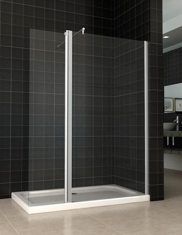 Mampara de ducha 1 hoja fija 1 hoja abatible modelo - Mampara fija ducha ...