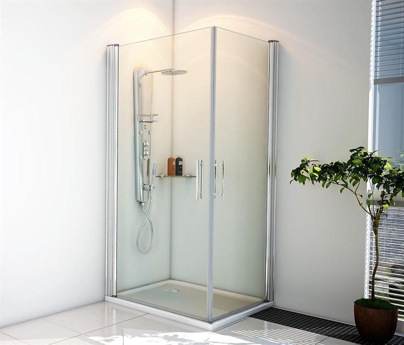 Mampara de ducha modelo motril perfilkrom for Mamparas de ducha 80x80