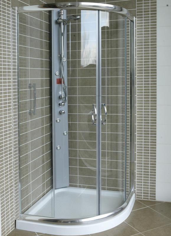 Mampara de ducha semicircular modelo ronda perfilkrom for Mamparas de ducha 70x70