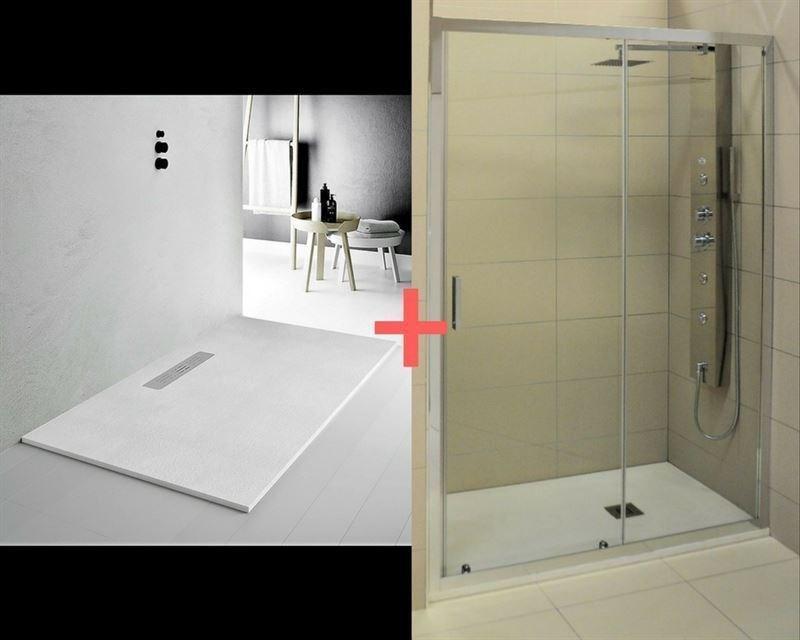 Plato de ducha con mampara finest no olvides combinarlo - Plato ducha con mampara ...